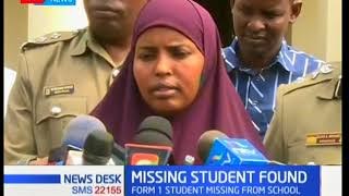 Form 1 student Saaida Aden from Ngara Girls' School is found in Mombasa after a week long search