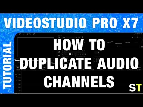 corel videostudio pro x7 how to duplicate audio channels tutorial youtube. Black Bedroom Furniture Sets. Home Design Ideas