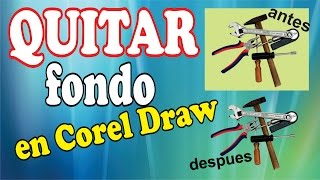 COMO QUITAR FONDO DE UNA IMAGEN EN COREL DRAW X7 2016 ( COREL PHOTO PAINT)