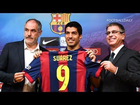 Barcelona finally unveil new £75m signing Luis Suárez