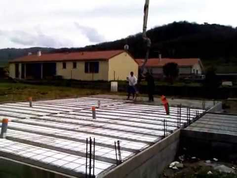 building a house in France: making the slab