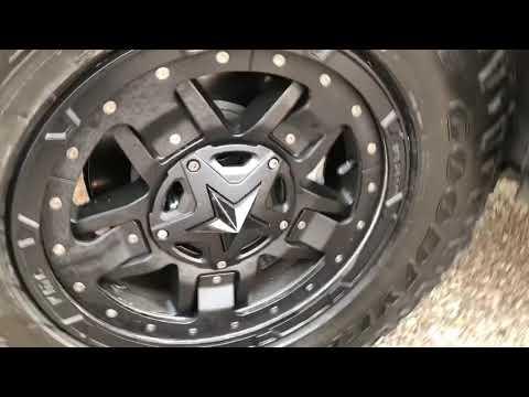 "2017 Chevy Colorado Z71 rockstar 3 rims Goodyear wrangler duratrac 265 70 17 2"" RC leveling kit"