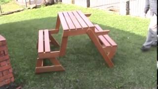 Folding Table Garden Bench   Preventdisease