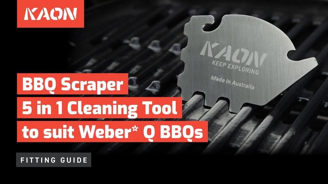 weber q bbq scraper cleaning tool 5 in 1 stainless steel bottle opener youtube