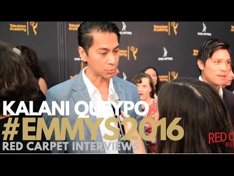 Kalani Queypo #Jamestown interviewed at 4th Annual Dynamic & Diverse Celebration #Emmys #SAGAFTRA