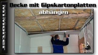 Decke mit Gipskartonplatten abhängen, Anleitung von M1Molter