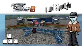 Farming Simulator 15 Mod Spotlight - Big Harvesters and a Plow