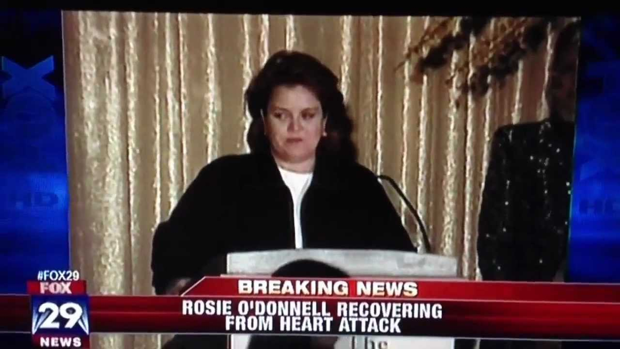 Rosie ODonnell Survives a Heart Attack