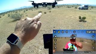 GoolRC CSJ WiFi S166 Folding GPS 1080p Camera Drone Flight Test Review