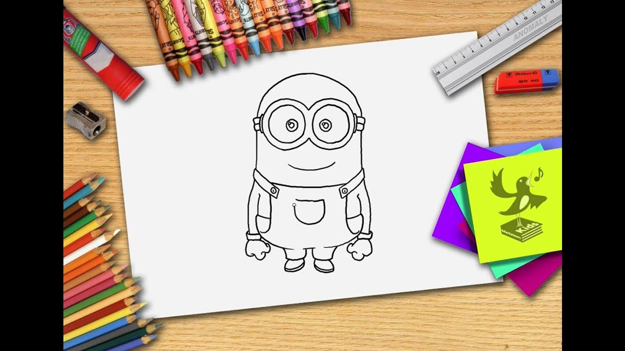 Wie zeichnet man minions - minion zeichnen lernen - YouTube