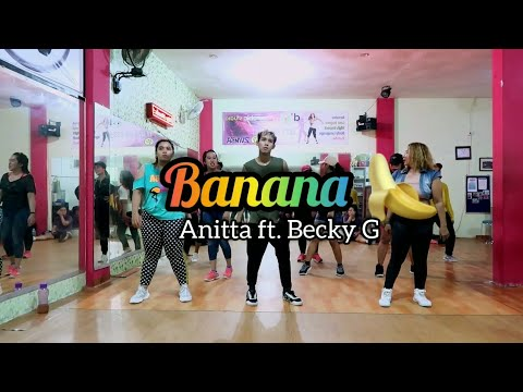 Anitta Becky G - Banana Choreography ZUMBA  DANCE  FITNESS  At D&39;One Studio Balikpapan