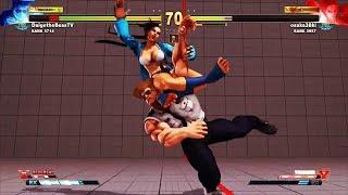 Street Fighter V AE Ranked Match.