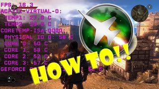 tutorial how to monitor benchmark in game fps gpu cpu memory usage etc free