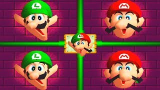 Mario Party 2 MiniGames - Mario vs Luigi vs Yoshi vs Peach