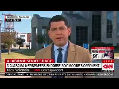 During Live CNN Report in Alabama, Person Shouts 'Fake News'