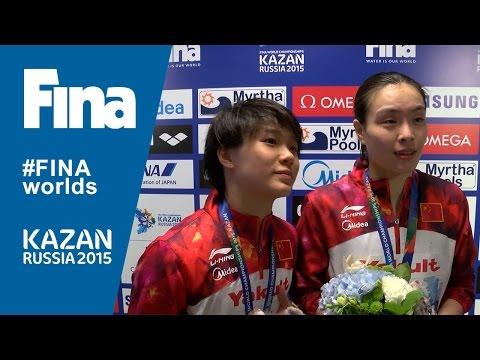 Minxia Wu and Tingmao Shi: winners of Women's 3m Synchro Springboard in Kazan (RUS)