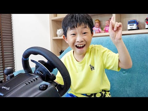 Car Toy Pretend Game Play with Power Wheels Toys Activity
