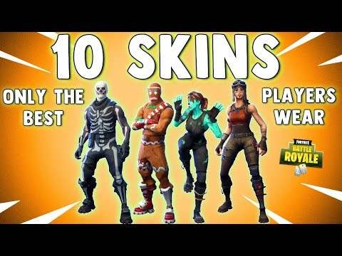 TOP 10 SKINS IN FORTNITE ONLY THE BEST PLAYERS WEAR!! Fortnite Battle Royale Best Skins
