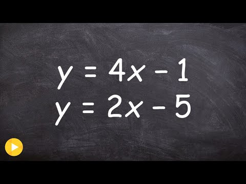 Solving a system of equations by substitution