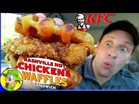 KFC® | NASHVILLE HOT Chicken & Waffles SANDWICH Review 🔥🥪 | Peep THIS Out! 👴