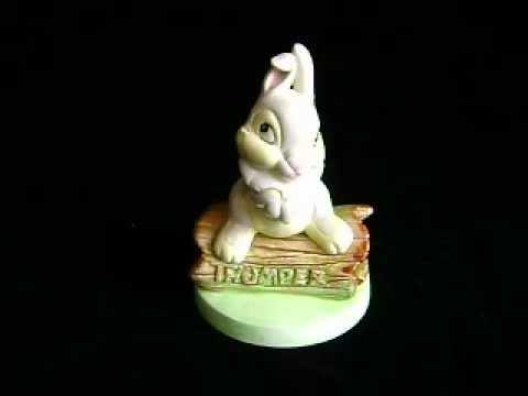 VINTAGE WALT DISNEY'S BAMBI~THUMPER MUSIC BOX BY SCHMID
