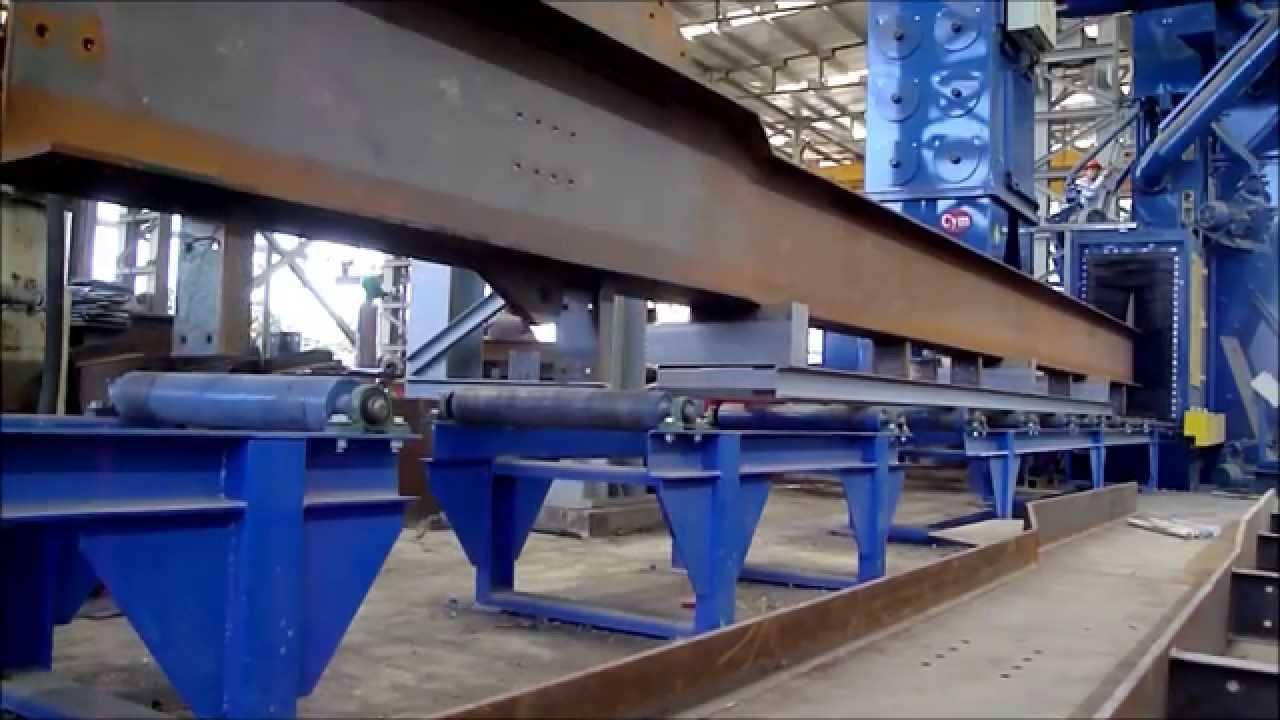 Granalladora de perfiles tubos chapas y estructuras for Perfiles de estanterias metalicas