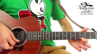 ► FUN EASY Complete BEGINNERS GUITAR LESSON - London Bridge Is Falling Down