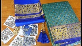 Wedding silk saree blouse || Diy