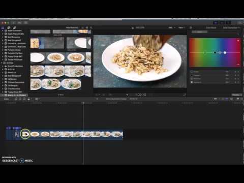 How to Edit a Short Form Food Video in Final Cut Pro X (Part 1)