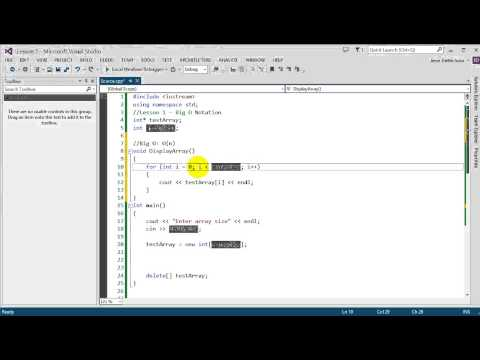 Data Structures using C++: Lesson 1 - Big O Notation