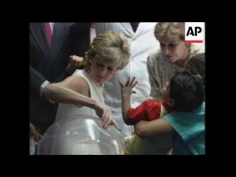 Argentina - Princess Diana Visit, Argentina - Princess Diana Meets President Carlos Menem