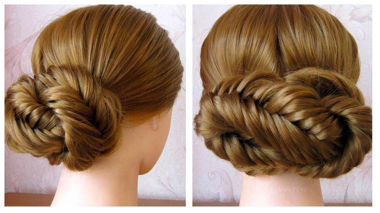 Chignon facile cheveux long / mi long (tresse épi de blé) ✨ Easy Chignon  Hair Tutorial