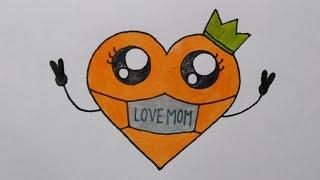 สอนวาดรูปหัวใจวันแม่ทำการ์ดวันแม่|Drawing a cute Heart for MothersDay|MySkyChannel