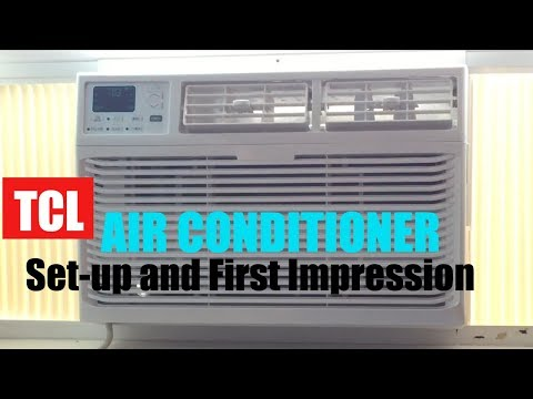 TCL Air Conditioner Review and Set-up. TAW08CR19 8000 BTU
