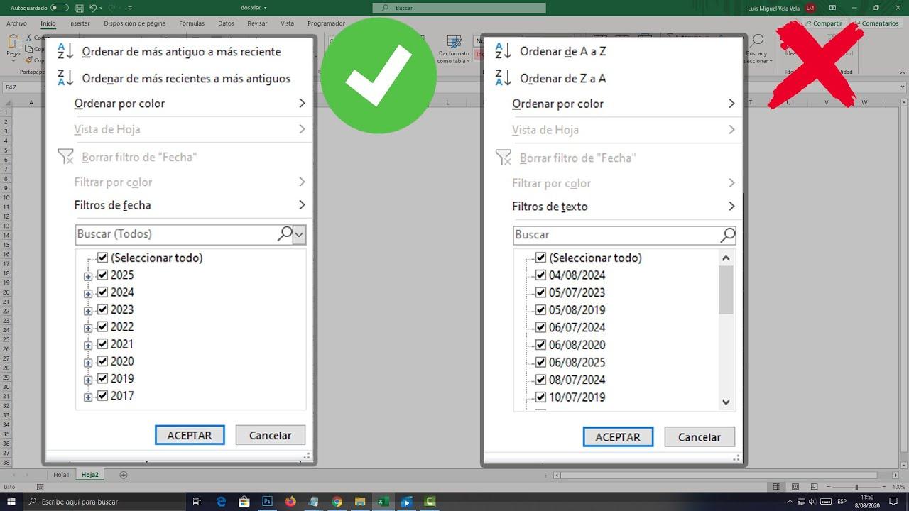 Download Filtros no agrupan fechas por año mes y día en Excel (SOLUCIÓN)