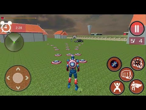 ► Super Captan Flying Robot - Iron Captain America (2 Hero combination) Escaping Gameplay