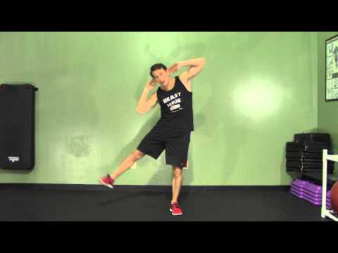 Side Leg Raise + Oblique Crunch - HASfit Abdominal Exercises - Ab Exercises - Abs Exercise