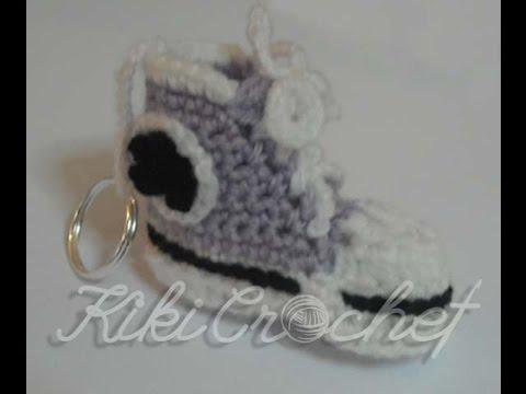 8e7bdf6b867 Πλεκτο Allstar Μινιατουρα για Μπρελοκ (μερος 1ο)/ Crochet Allstar Miniature  for Keychain (part 1) - YouTube