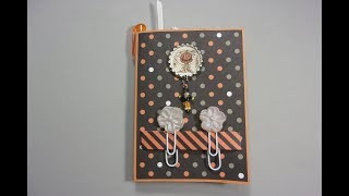 Covered Notepad with Extras, Hot Glue Decorated Paper Clips
