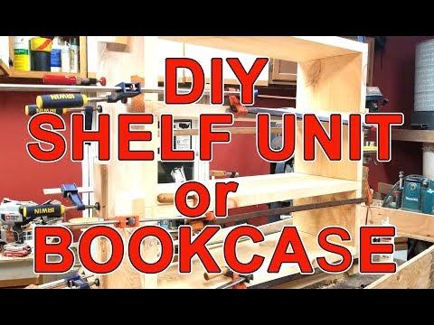 DIY Simple Shelf Unit or Bookcase - Woodworking (Organization)