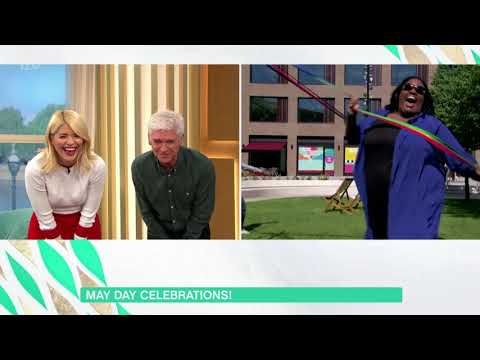 May pole dance with Lisa Snowdon  1st May 2018
