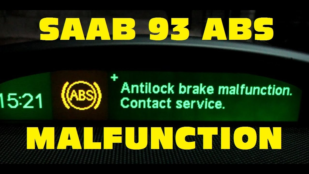Saab 9-3 ABS/TCS/ESP malfunction repair - YouTube