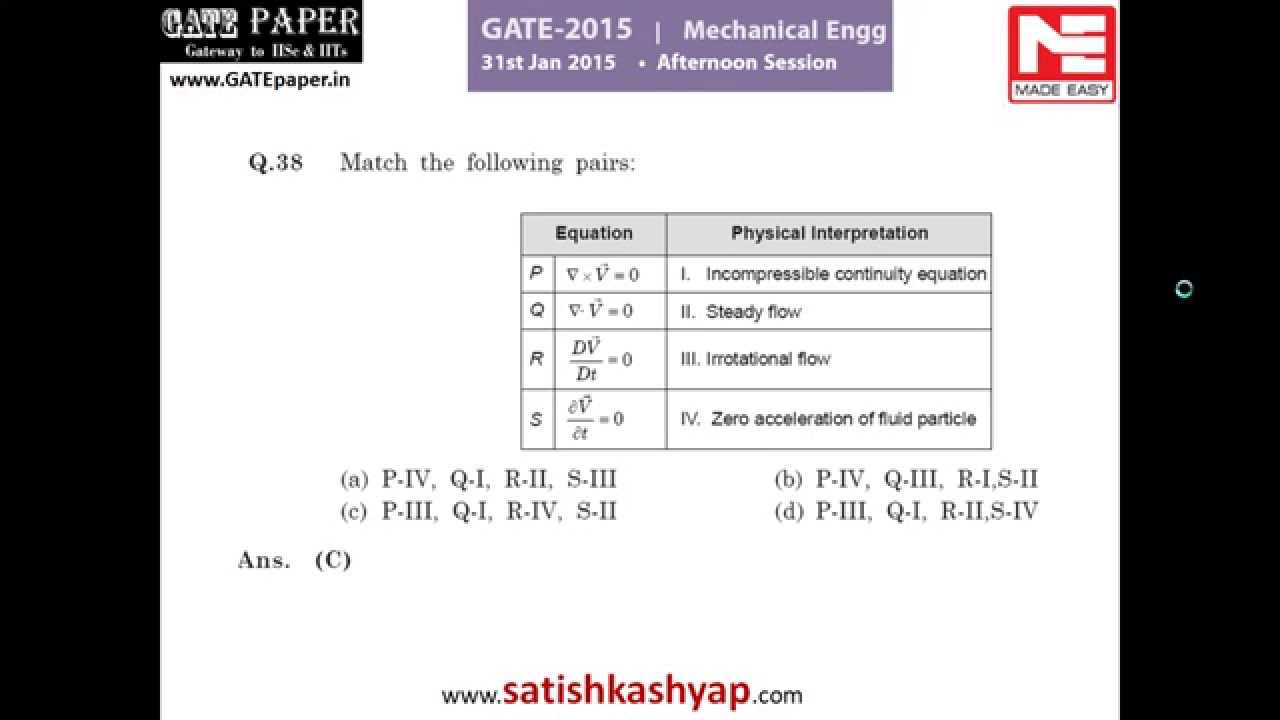 Gate Mechanical Previous Papers Pdf