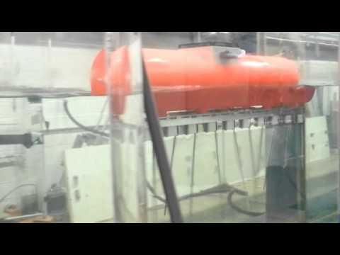 SquidROV - Biomimetic Submarine Propulsion System: Wave tank tests