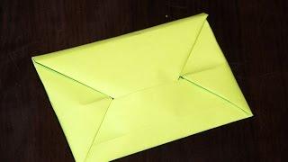 Простой конверт оригами своими руками  ////  Simple origami envelope with his own hands