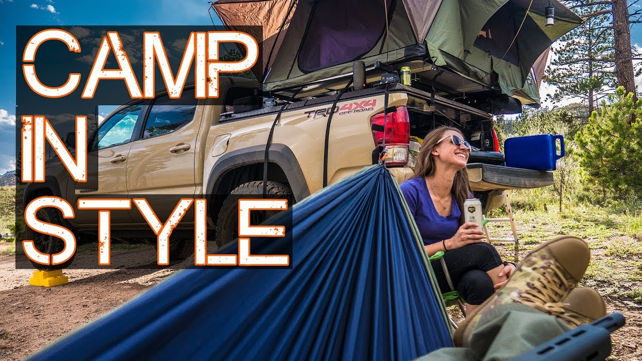 Roof Top Tent Pt 2 Truck Car Camping In Style Tacoma