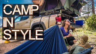 Roof Top Tent PT 2 - Truck / Car Camping in Style - Tacoma Overlanding (but not really)