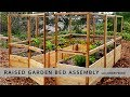 Raised Garden Bed with Deer Fence 8x12 Assembly