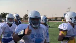 Heritage Patriots football practice  8 6 2018