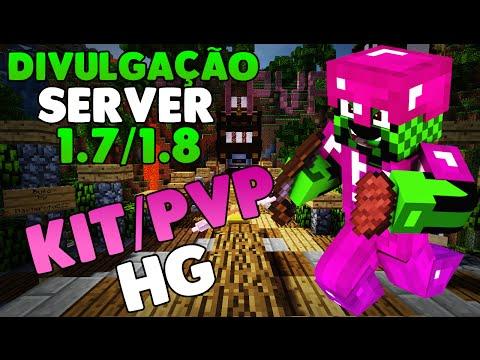 Divulgação de Server Minecraft 1.7/1.8 HG e Kit/PvP / Ep.291